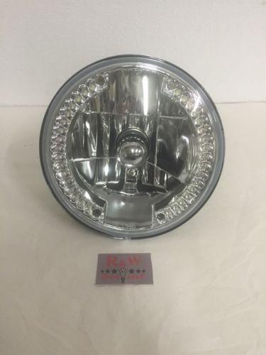 "7"" Crystal Headlight with LED Ring Running Light"
