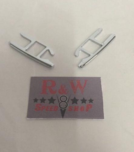 Pair of 1932 Ford Windshield Brackets - Chrome Plated