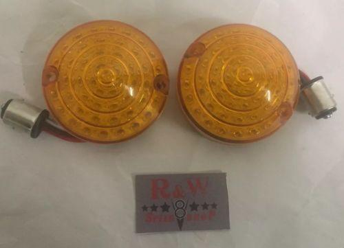 Pair of 1964-1966 Ford Mustang LED Amber Turn Signal Lights