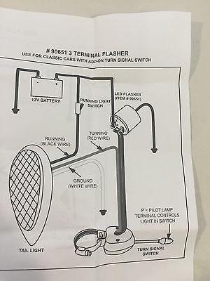 Turn Signal LED Flasher - 3 Terminal 12V