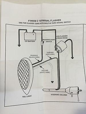 Turn Signal LED Flasher - 2 Terminal 12V