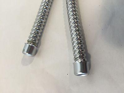 """Pair 19"""" Tail Light Stainless Steel Wire Conduit Shields"""