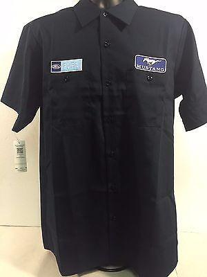 Ford Mustang Mechanic Shirt - Black Button-Down