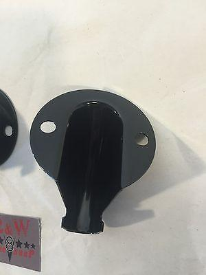 Pair Ford Tail Light Wire Shields - Black Steel for 1928-1966