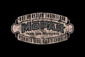 Vintage Mopar 1937 Logo T shirt