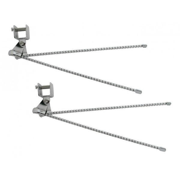 Pair of Universal Vintage Spiral Curb Feelers - Chrome