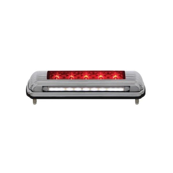 Universal LED 3rd Brake Light / Tail Light with Bracket - Chrome Art Deco