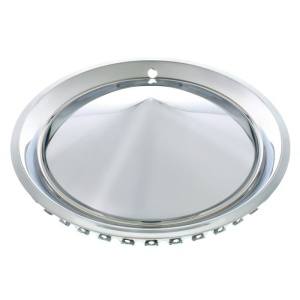 """Plymouth Cone Style Hubcaps - Chrome 1957 15"""" (Set of 4)"""