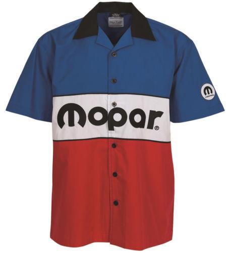 Mopar Pit Crew Shirt - Classic 1972 Logo Short Sleeve Mechanic Style