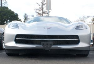 Removable, No Drill License Plate Bracket for 2014-2019 Chevrolet Corvette Stingray & Grand Sport
