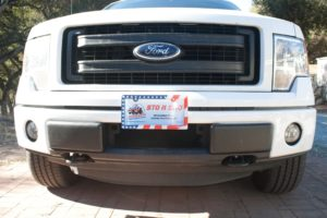 Removable, No Drill License Plate Bracket for 2009-2014 Ford F150