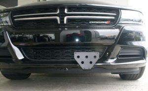 Removable License Plate Bracket for 2015-2019 Dodge Charger SXT, R/T, GT (with adaptive cruise)
