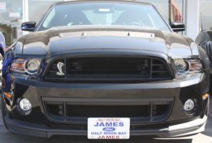 Removable, No Drill License Plate Bracket for 2013-2014 Ford Mustang Shelby GT500 (with 2nd chin splitter)