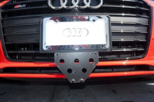 Removable License Plate Bracket for 2013-2016 Audi S5