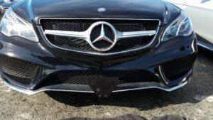 Removable License Plate Bracket for 2016 Mercedes E400 non-Sport