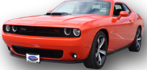 Removable, No Drill License Plate Bracket for 2015-2018 Dodge Challenger SXT, R/T, Scat Pack