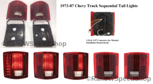 Sequential LED Tail Lights for 1973-87 Chevy Truck