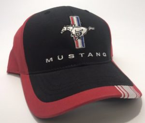 Ford Mustang Hat - Red / Black with Tri Bar Logo