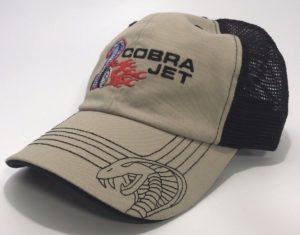 Ford Shelby Mustang Cobra Jet Hat - Black Mesh Trucker