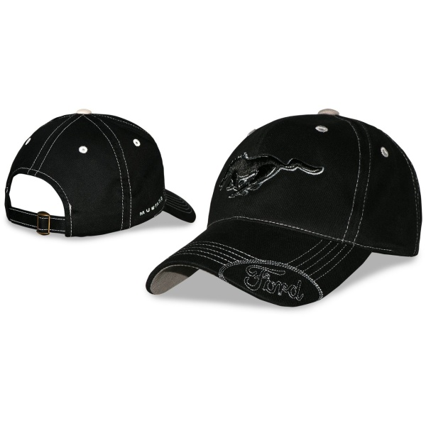 Ford Mustang Hat - Black with Pony Logo