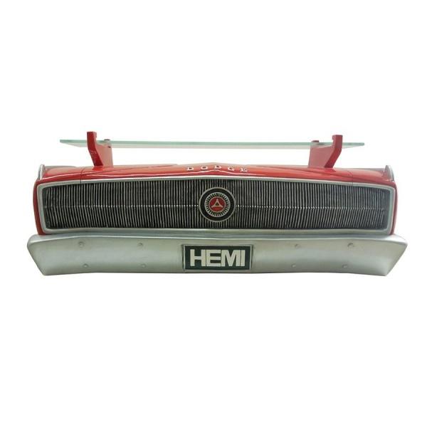 1967 Dodge Charger Hemi Wall Shelf - Classic Red w/ Glass Shelf