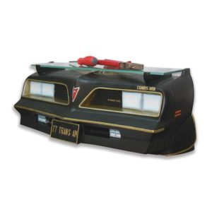 1977 Pontiac Firebird Wall Shelf - Black w/ Gold and LED Headlights