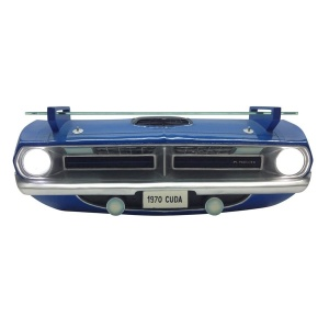 1970 Plymouth Barracuda R/T Wall Shelf - Classic Blue Front End