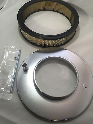 """4 Barrel Air Cleaner - Chrome 11-1/2"""" Dome Style with 5-1/8"""" Neck"""