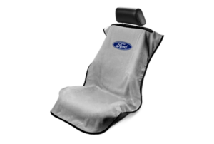 Ford Seat Cover - Gray with Blue Oval Ford Emblem