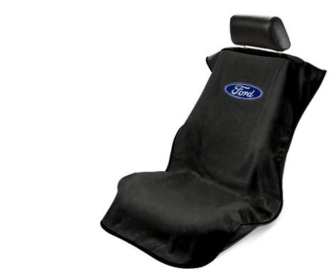 Ford Seat Cover - Black with Blue Oval Ford Emblem