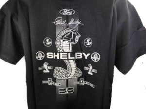Shelby Cobra T Shirt - Black w/ Signature Snake Emblems