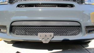 Removable, No Drill License Plate Bracket for 2018-2019 Dodge Durango SRT