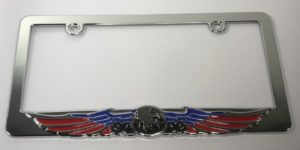 Eagle License Plate Frame - American Flag