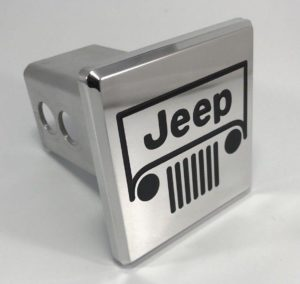 Jeep Hitch Cover - Grille Emblem Polished