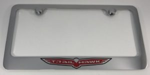 Jeep TrailHawk License Plate Frame - Chrome with Logo