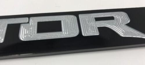 Ford Raptor License Plate Frame - Black with Silver Script