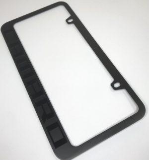 Chevrolet Camaro License Plate Frame - Black with Black Script