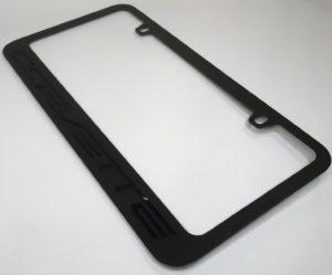 Chevrolet Corvette License Plate Frame - Black with Black Script