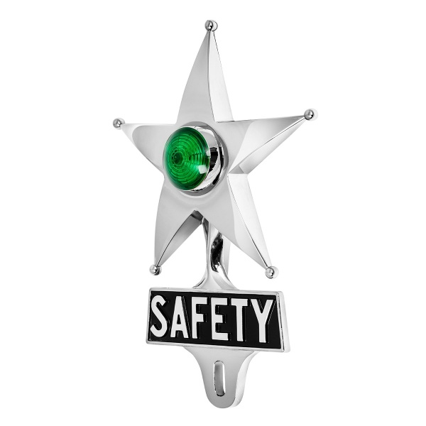 License Plate Topper - Safety Star With Dual Function LED