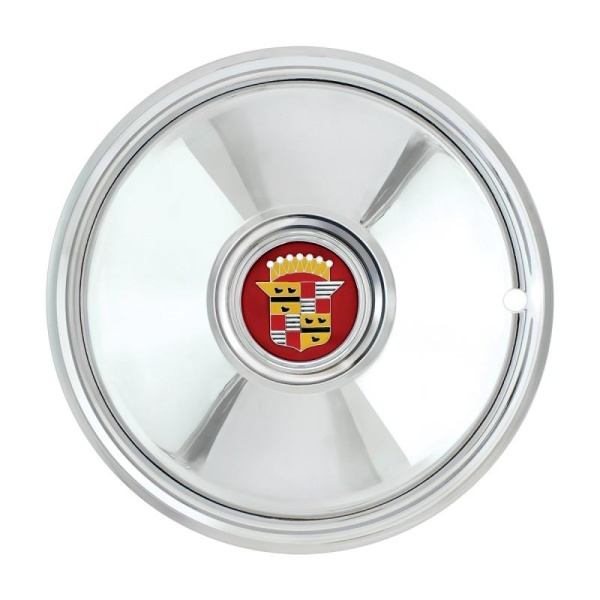 """Cadillac Hubcaps - Chrome Plated 16"""" Sombrero (Set of 4)"""