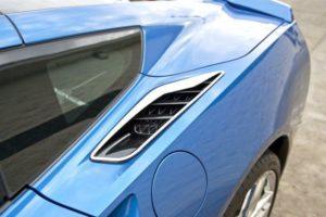 2014-2019 C7 Corvette Rear Quarter Vent Trim - Polished Stainless Steel