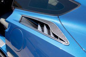 2014-2019 C7 Corvette Rear Quarter Vent Trim - Carbon Fiber w/ Louver Covers 10 Pc Kit