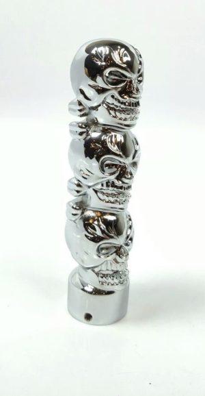 Shift Knob - Chrome Metal Skulls