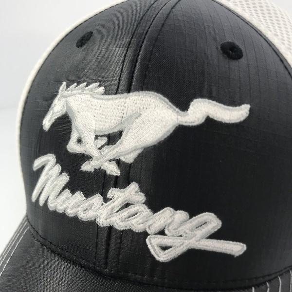 Ford Mustang Hat - Black & White Trucker
