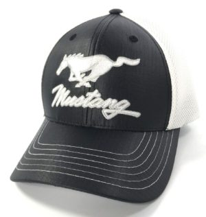 Ford Mustang Hat - Black & White Trucker