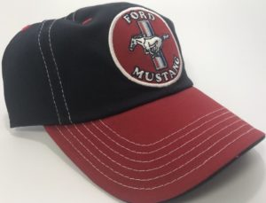 Ford Mustang Hat - Black & Red Patch with Logo