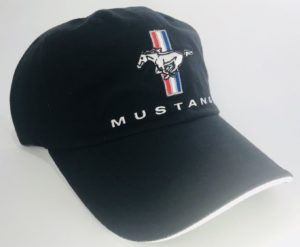 Ford Mustang Hat - Black with Tri-Bar Logo