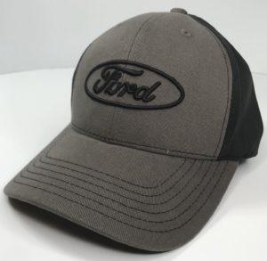 Ford Emblem Hat - Grey with Black Stitching