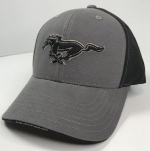 Ford Mustang Hat - Grey with Black Pony Logo