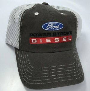 Ford Power Stroke Diesel Hat - Brown with White Mesh